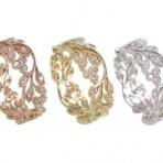 Diamond floral eternity ring