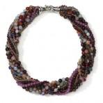 Multistrand gem collar
